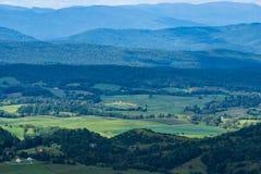 Vista de Shenandoah Valley hermoso, Virginia, los E.E.U.U. fotos de archivo libres de regalías