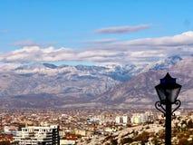Vista de Shkoder, Albania Fotografía de archivo