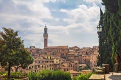 Vista de Siena Fotografía de archivo libre de regalías