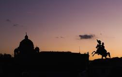 A vista de silhuetas do centro da cidade de Viena Fotos de Stock