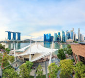 Vista de Singapur central fotos de archivo libres de regalías