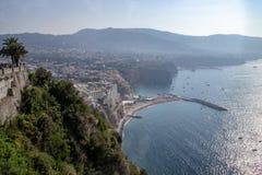 Vista de Sorrento, Italy imagens de stock royalty free