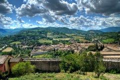 Vista de Spoleto. Úmbria. imagens de stock