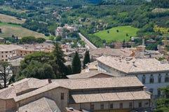 Vista de Spoleto. Úmbria. Imagens de Stock Royalty Free