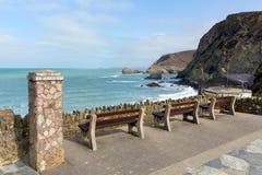 Vista de St Agnes Cornwall England Reino Unido Foto de Stock Royalty Free