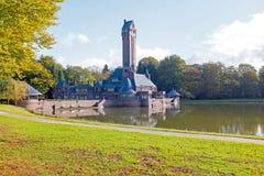 Vista de St Hubertus Hunting Lodge en los Países Bajos fotos de archivo libres de regalías
