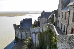 Vista de St Michel de Mont Imagens de Stock Royalty Free