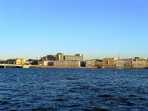 Vista de St Petersburg del Neva foto de archivo