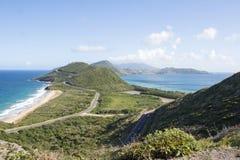 Vista de St San Cristobal y Nevis Imagenes de archivo