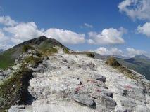 Vista de Stubnerkogel, Gastein mau, Almorama, Salzburg, Áustria fotos de stock