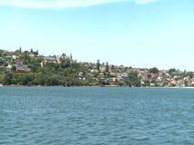 Vista de Sydney da água vídeos de arquivo