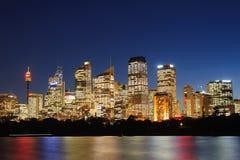 Vista de Sydney y del puerto Imagenes de archivo