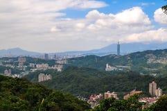 Vista de Taipei Foto de archivo libre de regalías
