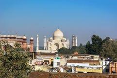 Vista de Taj Mahal fotos de archivo
