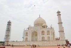 Vista de Taj Mahal, Agra, India imagens de stock