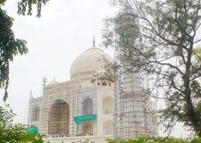 Vista de Taj Mahal, Agra, India fotografia de stock