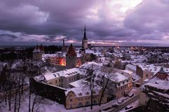 Vista de Tallinn Imagen de archivo libre de regalías