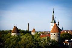 Vista de Tallinn velho. Imagem de Stock