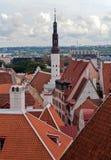 Vista de Tallinn vieja Imagen de archivo