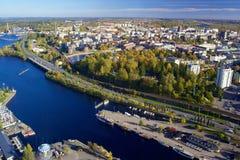 Vista de Tampere de la torre de la televisión Fotos de archivo
