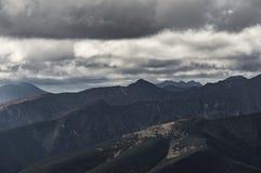 Vista de Tatra alto Imagens de Stock