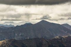 Vista de Tatra alto Fotografia de Stock