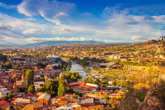 Vista de Tbilisi Imagen de archivo libre de regalías