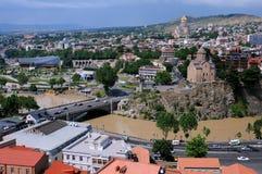 Vista de Tbilisi Foto de archivo