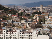 Vista de Tbilisi (Geórgia) Fotografia de Stock
