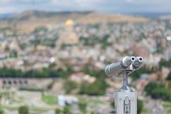 Vista de Tbilisi, Geórgia fotos de stock