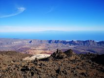Vista de Teide foto de stock royalty free