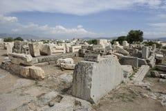 Vista de Telesterion, Eleusis antigo Fotografia de Stock