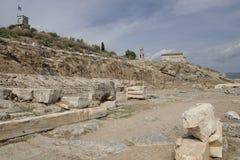 Vista de Telesterion, Eleusis antigo Imagens de Stock Royalty Free