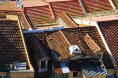 Vista de telhados da casa em Lisboa fotos de stock royalty free