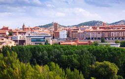 Vista de Teruel com torre mudejar imagem de stock royalty free
