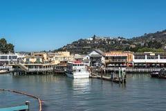 Vista de Tiburon, Califórnia imagens de stock