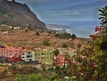 Vista de Tigaiga Tenerife e do Atlântico Foto de Stock Royalty Free