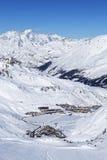 Vista de Tignes no inverno Imagem de Stock Royalty Free