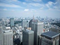 Vista de Tokio del  metropolitano del åº del ½ del ±äº¬éƒ del  del æ del edificio del gobierno, Shinjuku, Japón fotos de archivo
