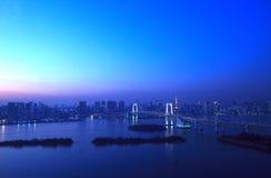 Vista de Tokyo da baixa na noite imagens de stock royalty free