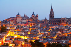 Vista de Toledo viejo Foto de archivo