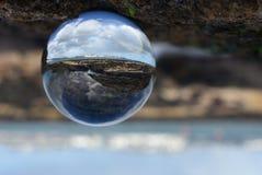 Vista de Torbay através de uma esfera foto de stock royalty free