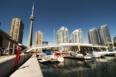 Vista de Toronto del embarcadero foto de archivo