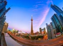 Vista de Toronto do centro Imagens de Stock Royalty Free