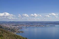 Vista de Trieste en Italia Foto de archivo libre de regalías