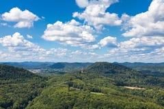 Vista de Trifels Fotografia de Stock