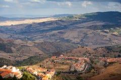Vista de Troina, Sicilia Fotos de archivo