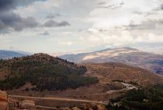 Vista de Troina, Sicilia Imagen de archivo libre de regalías