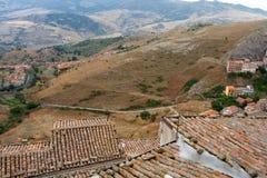 Vista de Troina, Sicilia Fotografía de archivo libre de regalías