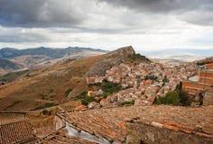 Vista de Troina, Sicilia Imágenes de archivo libres de regalías